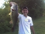 check out this big FOUR teen pounder that i pulled out of a pond in north eastern ohio