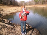 This is my grandson Laine, 3rd generation BassMaster.. Caught some bass and crappie on Christmas Eve 2010 in Grenada, MS.