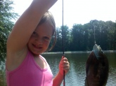 Emily Crohn 8 years old Blue Gill Mooresville Indiana Private Pond!