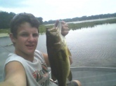 i got this on a mouse in the back waters of lake webster using a 6 bering baitcaster