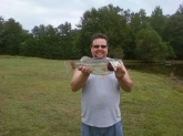 My name is Jonathan Dorton of Harrisburg,Nc.  I am HUGE FAN OF BILL DANCE OUTDOORS. This is a picture of a 6lbs Bass I caught at my brothers house. I would love to go fishing with Bill Dance one day. I can even bring him out to our shop and let fish our ponds.  Thanks and good catcing and fishing.