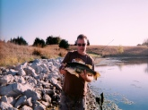 Fishing at a friends pond north of Lincoln Nebraska. Caught her the first weekend of October.