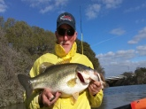 Fish caught at Brushy Creek in Austin, TX on Feb 26, 2012.  LMB weighed 9 lbs, 4 oz.  I was using a weightless Grande Bass Baby Rattlesnake.