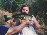 My beautiful sweet 10 year old daughter caught this six pound bass on a junebug zoom texas rigged lizard a hard technique for a child for sure