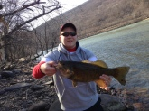 Small mouth caught in Susquehanna River on a rubber worm.