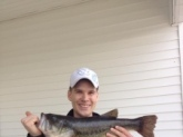 I caught this 6lb 8oz monster on a white zoom trick worm. I will never go fishing without a pack! I was fishing in a private farm pond in Ohio.