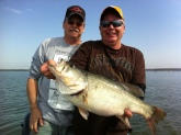 Lake Fork, 2012, and 2013, lagest 10.8, and 10.6, amy sister fist big fish