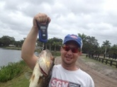 Wellington, Florida  7 lbs. 8 oz. 4/13/2014 - rainy and windy day - 1PM Culprit red shad 10