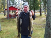Fall River Walleyes. Channel Fishing with Jigs.  These 2 were 7 1/2 lbs. Caught in Alpena, Mi on the Thunder Bay River.