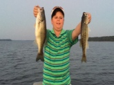 Cy Casey with a great day with 2 fish with 8 lb. total at Clark Hill