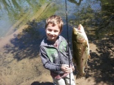 Never too young too start fishing. My little guys first time fishing. He fished river in Salem va.