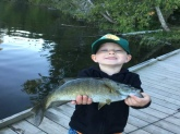 My 3 year old son Iver Hall caught his first bass, in Northern Maine he watches Bill Dance bloopers DVD just about everyday.