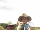 My boy Ethan Cade at the age of 5 is quite the little fisherman . He's always in competition with his brother and myself to see who catches the most and he gives us a run . This boy has been on the water since he was 2wks old and loves every moment .