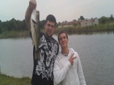 me and my buddy caught this the river down the street from us. pushing 4lbs